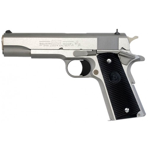 "Colt Pistola Government 9mm 5"" Stainless Steel"