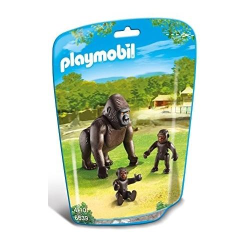 6639 Gorila con dos bebés