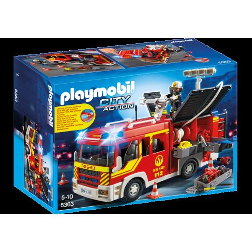 5363 Camión de bomberos con luces y sonido