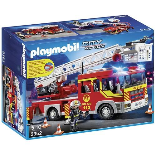 5362 Camión de bomberos y escalera con luces