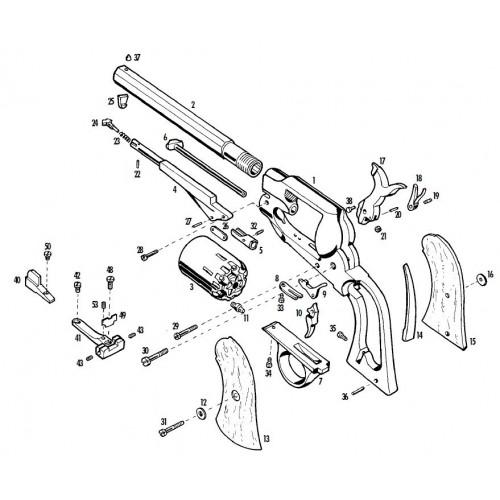 Pietta 1858 Remington Listado completo de piezas