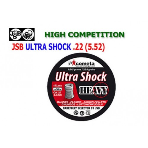 JSB Ultra Shock Heavy 5.52  150 unidades