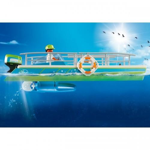9233 Barco Fondo de Cristal ¡con Motor!