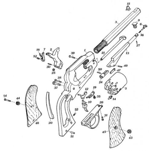 Listado piezas 1858 Remington Uberti