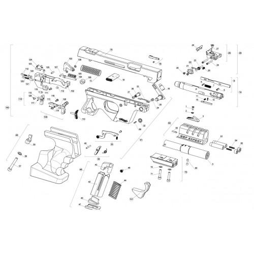 Walther GSP Expert .22 / .32  Pieza Nº11