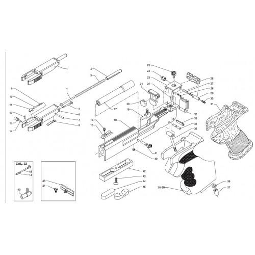 Benelli Uña extractora pistola MP95 22lr