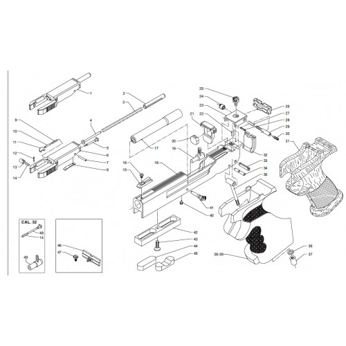 Amortiguador pistola Benelli MP95 22lr nº pieza 20