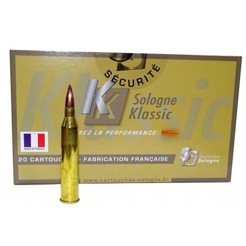 Munición Sologne rifle 6 x 62 R Fréres Nosler BT 95 gr