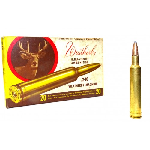 "Balas Weatherby ""Vintage"" .240 Weatherby Magnum Soft point Hornady Ultra-Velocity"