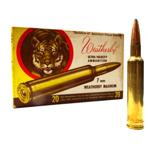 "Balas Weatherby ""Vintage"" 7mm Weatherby Soft point Ultra-Velocity"